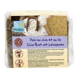 Chia-Brot mit Leinsamen, glutenfrei 375 g