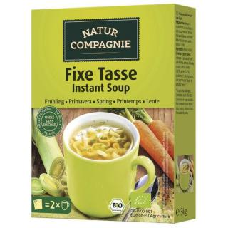 Fixe Tasse Instant- Suppe Früh