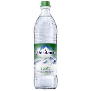 Adelholzener Mineralw.Sanft Glas-Fl 500 ml