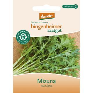 Asia Salat Mizuna, Bingenheimer Demeter Saatgut